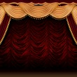 Red theater curtain — Stock Photo #9551959
