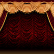 Royalty-Free Stock Photo: Red theater curtain