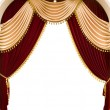 Red theater curtain - Foto de Stock  