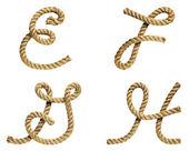 буква e, f, g, h — Стоковое фото