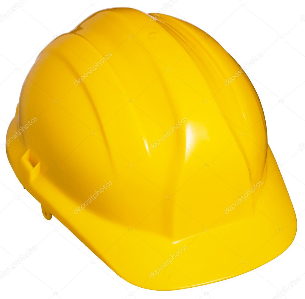 Yellow Hard Hat. Isolated — Stock Photo #9550452