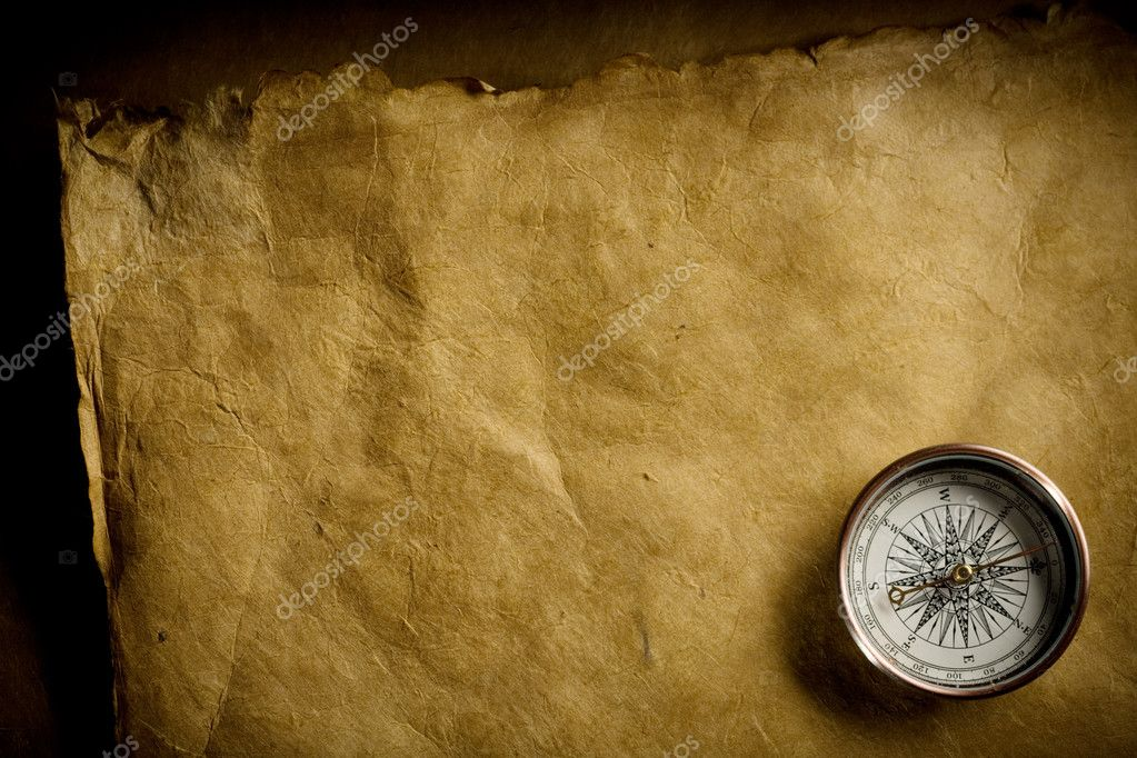Close up view of the Compass on the old paper background — Stock Photo #9551007