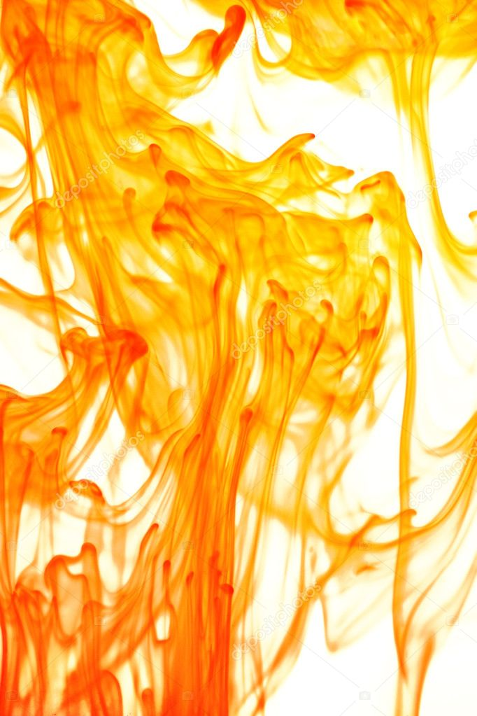 Inks in water making abstract forms — Stock Photo #9552357