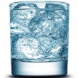 Drink with ice close-up — Stock Photo #9593802