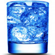 Drink with ice close-up — Stock Photo #9593808