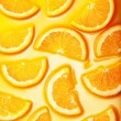 Orange slices background — Stock Photo #9594295