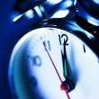 Stock Photo: Blue alarm clock