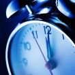 Blue alarm clock — Stock Photo #9594630