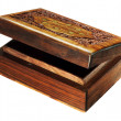 Carve wood box — Foto de Stock