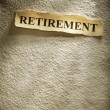 Foto Stock: Headline retirement