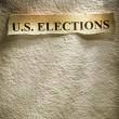 Headline U.S. ELECTIONS - Stockfoto