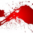 Red splash - Stock Photo