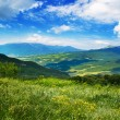 View of mountain Demerdji, Crimea, blue sky - Stock Photo