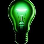 lâmpada incandescente no preto — Foto Stock