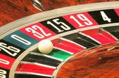 Casino roulette, zero wins — Stock Photo