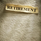 Headline retirement — Stock Photo