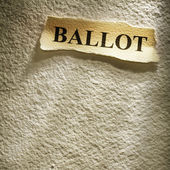 Headline ballot — Stock Photo