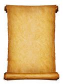 Ancient manuscript isolated over a white background — Stock Photo