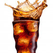 Cola spatten — Stockfoto