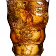 Cola in glas — Stockfoto