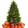 Christmas Tree and Gifts — Stock Photo #9602994