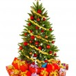 Christmas Tree and Gifts — 图库照片