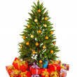 Christmas Tree and Gifts — Stock Photo #9603074