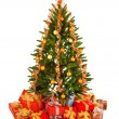 Christmas Tree and Gifts — Stock Photo #9603128