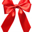 Stock Photo: Bright red bow isolated