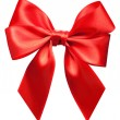 Bright red bow isolated — Stock Photo #9603612