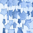 Stock Photo: Blue stars pattern,