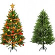 Christmas Tree and Gifts. Over white background — Foto de Stock