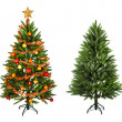 Christmas Tree and Gifts. Over white background — Stock fotografie