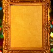 Royalty-Free Stock Photo: Gold antique frame, abstract bokeh background