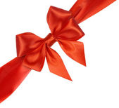 Bright red bow isolated — Stock Photo