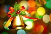 Christmas decoration with colorful lights close up — Stock Photo