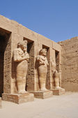 Phafaons on the wall of temple Ramzes II, Egypt — Stock Photo