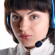 Customer Support girl — Stock Photo