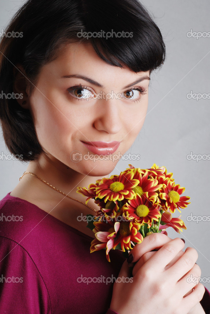 Flower girl  — Stock Photo #9899065