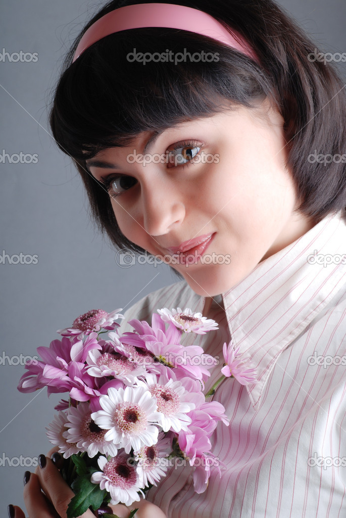 Flower girl  — Stock Photo #9899070