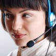 Royalty-Free Stock Photo: Customer Support girl