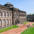 The Zwinger (Der Dresdner Zwinger) is a palace in Dresden, eastern Germany, built in Baroque style. It served as the orangery, exhibition gallery and festival arena of the Dresden Court. - Stock Photo