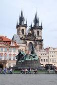 Catholic church, Monument to King John of Saxony and Dresden Castle, Dresden, Germany — Stock Photo