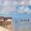 Sea gypsy village - Stock Photo