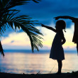 Royalty-Free Stock Photo: Silhouettes of two kids