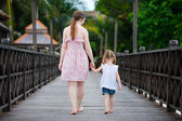 Mother and daughter back view — Stock Photo