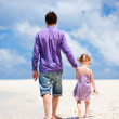 Father and daughter at beach — Stock Photo #10146711