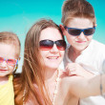 Family taking self portrait — Stock Photo #10614797
