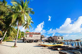 Sea gypsy village in Malaysia — Stock Photo