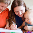 Family drawing — Stock Photo #8028203